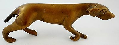 Vintage Brass Pointer Dog 3.6 Inches long (tail repair)