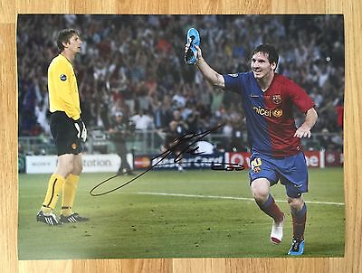 LIONEL MESSI - Hand Signed 16x12 Photo - Barcelona Argentina - Barca - Football