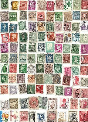 100 Worldwide assorted canceled stamps 7/16D