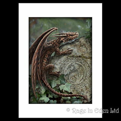 *SPINY WOODLAND HOPPER* Anne Stokes Dragon Gothic Mounted Art Print