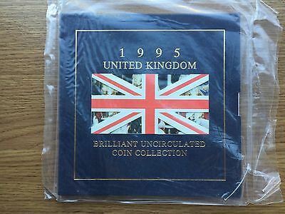1995 Brilliant Uncirculated Sealed 8 Coin Collection Year Set Royal Mint BU