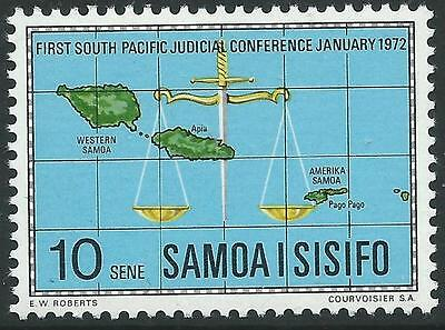 Samoa Sg377 1972 South Pacific Judicial Conference Mnh