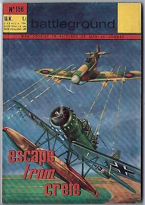 "1967. Early BATTLEGROUND War Picture Comic #156. ""Escape from Crete"""