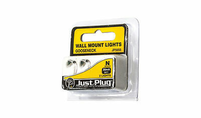 Woodland Scenics Just Plug N Scale Gooseneck Wall Mount Lights (2) JP5658