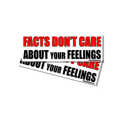 Facts Dont Care about Your Feelings Snowflake Funny Sticker Decal 2 Pack