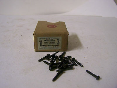 """#3 x 5/8"""" Round Head Blued Wood Screws Slotted Made in USA Qty 125"""