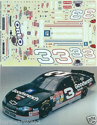 Nascar Decal # 3 Oreo/goodwrench  2001 Monte Carlo Dale Earnhardt - 1/24 Scale