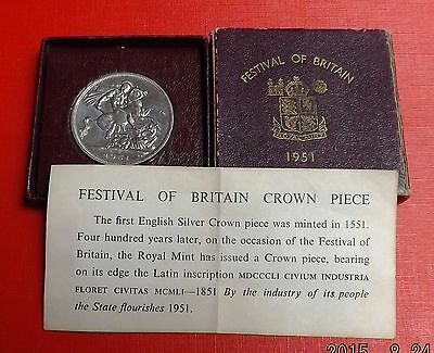 George V1 1951 Crown In Maroon Box And Coa Nice Rare Coin