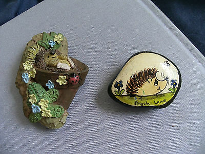 HEDGEHOG Fridge Magnets - One Hand Painted by Angela Laws - One by RUSS