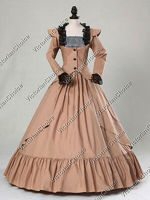 Victorian Gothic Steampunk 3-PC Suit Dress Gown Jacket Punk Theater Clothing 167