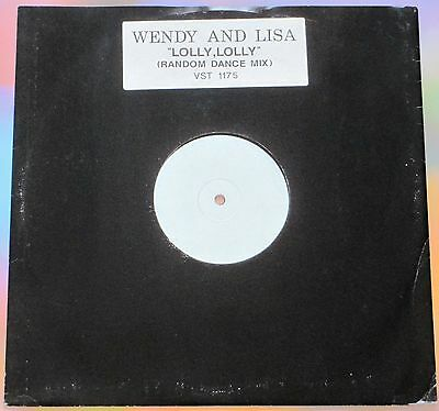 """Wendy And Lisa Lolly Lolly (According To Prince) 12"""" White Label Promo 1989"""