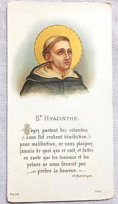 Rare Old Holy Card St Hyacinthe ( Hyacinth ) Dominican Missionary