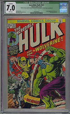 Incredible Hulk #181 Cgc 7.0 White Pages 1St Wolverine Marvel Qualified