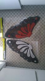 new wicked fairy butterfly wings fancy dress adult large sparkly silver or red