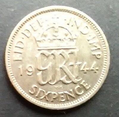 1944 Sixpence - George VI coin
