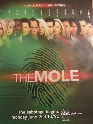 The Mole, TV Show, Full Page Promotional Ad