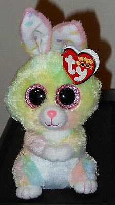 """Ty Beanie Boos ~ BUBBY the 6"""" Easter Bunny Rabbit ~ Plush Toy (NEW) 2017 Design"""