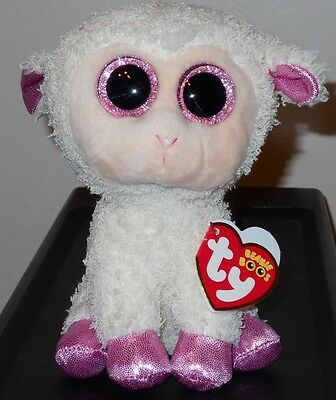 """Ty Beanie Boos ~ TWINKLE the 6"""" Easter Lamb ~ Plush Toy (BRAND NEW) 2017 Design"""