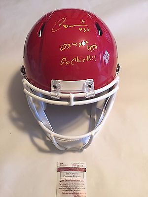 Charcandrick West Autographed FS Kansas City Chiefs Helmet INSCRIBED JSA COA