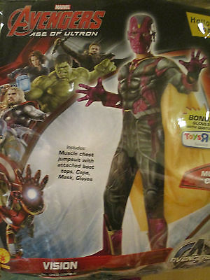 vision marvel size large 12-14 halloween costumes
