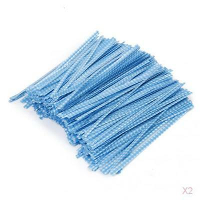 2 Packs 500pcs 10cm Metallic Twist Ties for Christmas Bakery Candy Cello Bags