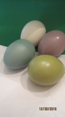 """Ceramic  GLASS LOT OF 4 COLORED EASTER EGGS  3"""""""
