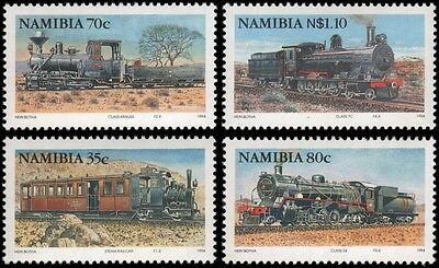 Namibia #770-773 set MNH trains