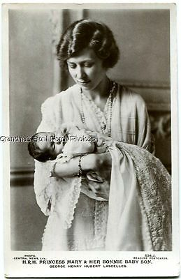 Rppc Mother & Baby ~ Princess Mary & Infant Son Antique Photo Postcard