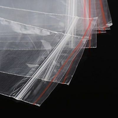 "500 Clear Top Zip Lock Baggies 7x10cm (2.75"" x 3.93"") ZipLock Red Line ~ light"