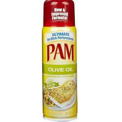3 PACK Pam Cooking Spray Olive Oil Kitchen Cooking Oil