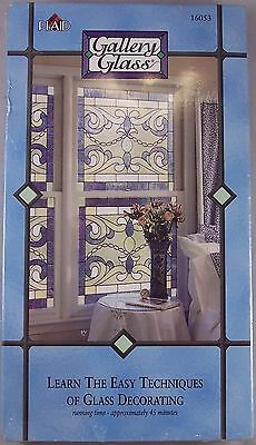Gallery Glass Learn The Easy Techniques Of Glass Decorating 1997 VHS NEW
