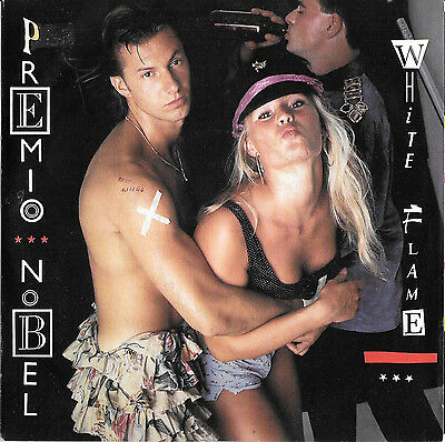 "Premio Nobel 45 Giri ""white Flame"" 1987 Italian Records 06 2021557 Italo Disco"