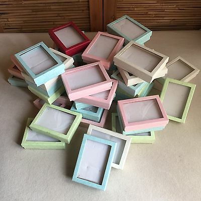 BULK Lot 45X VINTAGE Perspex CLEAR Window JEWELLERY Presentation GIFT Boxes