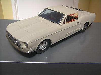 "Bandai Large Tin Friction Ford Mustang 14"" made in Japan Excellent rare"