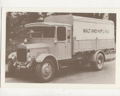 Thornycroft Wooden Bodied Canvas Sided Brewery Lorry Repro Postcard 854a