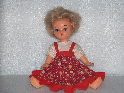 Cute Vintage Plastic Toy Doll, USSR/Russia