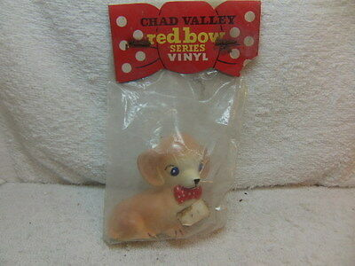 Chad Valley Red Bow Series squeaky Spaniel toy UNOPENED in packet c 1960