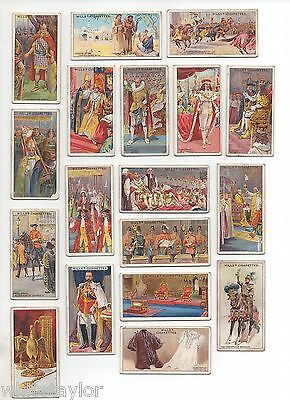 Wills cigarette cards The Coronation Series 1911 Part Set 18/50