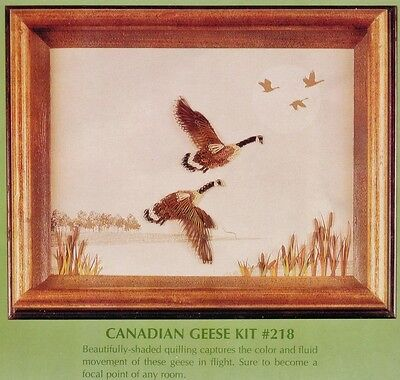 """CANADIAN GEESE QUILLING 9 x 12"""" PICTURE KIT #218 MALINDA Lake City Craft Co. USA"""