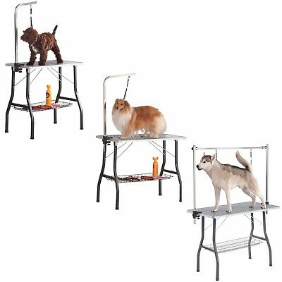 Milo & Misty Foldable Dog Grooming Table with Arm, Nose -Steel Non-slip Portable