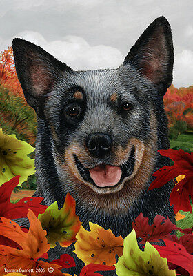 Large Indoor/Outdoor Fall Flag - Blue Australian Cattle Dog 13072