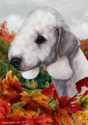 Large Indoor/Outdoor Fall Flag - Bedlington Terrier 13131