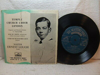 Temple Church Choir - Master Ernest Lough – Hear My Prayer 1950s EP 1927 rec HMV