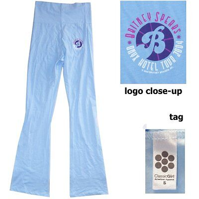 Britney Spears 2004 Tour Blue Stretch Yoga Pants Small New Official