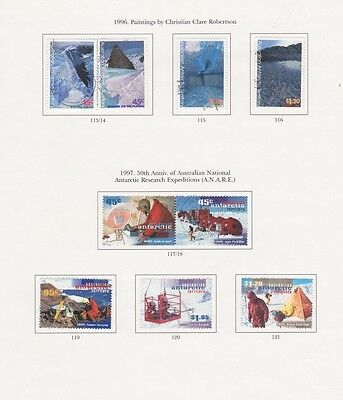 Australian Antarctic territory, Research expedition, 1996, high values, used