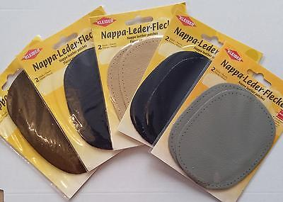 Pack Of 2 Kleiber Nappa Leather Sew-On  Elbow/Knee Patches,Choice Of Colour