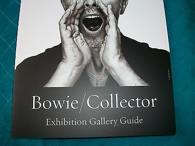 DAVID BOWIE on front bi-fold SLIM guide for SOTHEBY's GALLERY ART AUCTION 2016