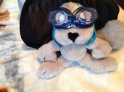 Rocky The Squirrel Plush Goggles Hat Nanco 1991 About. 9 In.