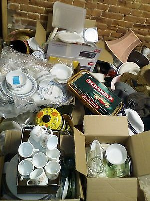 Job Lot Of Vintage Items, China, pyrex, Tupperware, House Clearance Carboot