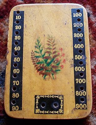 Antique playing cards  -  Victorian Games  Marker / FERN WARE Bezique Marker